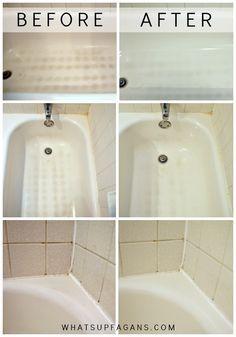 My Dirty Little Secret For A Sparkling Clean Bathtub