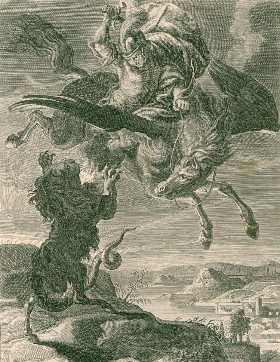 Bellerophon fighting Chimera