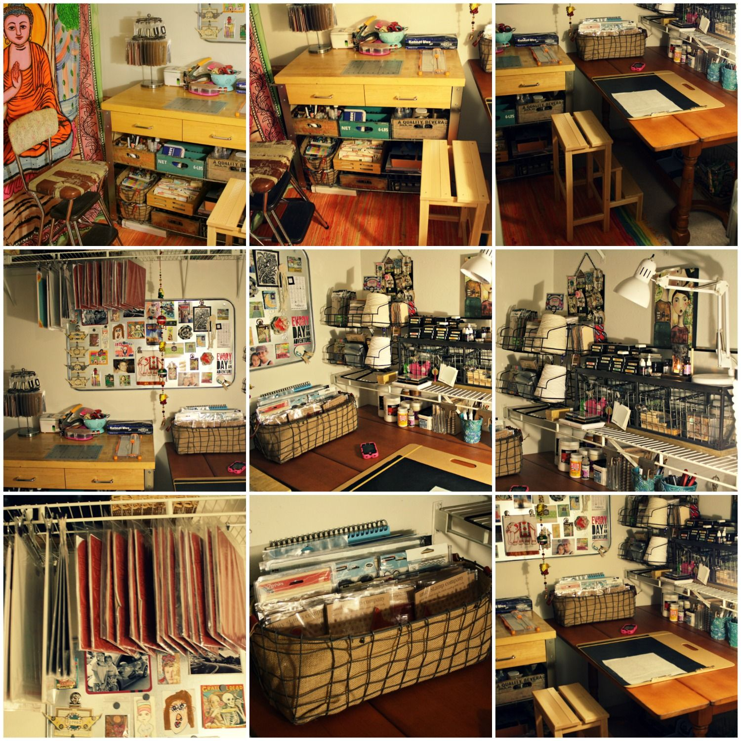 Art Craft Space In A Closet: Art Journaling, Mixed Media, Mail Art Supplies  Anization And Storage