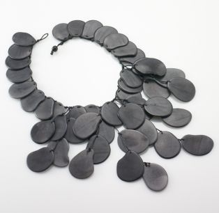 "This necklace is made of Tagua seeds, once known as ""the poor man's ivory."""