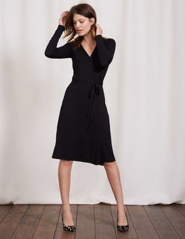 68f03831658 Black Wrap Dress Boden | my new hang out with my peeps! in 2019 ...