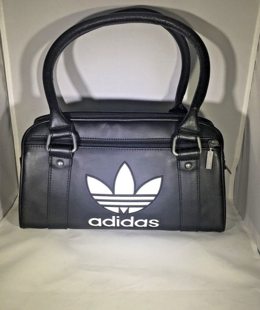 624db096ad6 Adidas Originals Bowling Bag Black Retro Vintage Purse Handbag