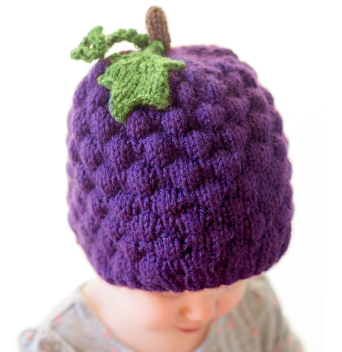 Juicy Grape Baby Hat Pattern Baby Hat Patterns Knitted Hats Baby Hat Knitting Pattern