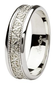 Mans Irish Trinity Knot Wedding Band My Style Pinterest