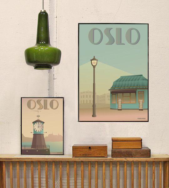 Oslo Plakat Med Aker Brygge Som Motiv Kob Den Her Plakat Brygge Oslo