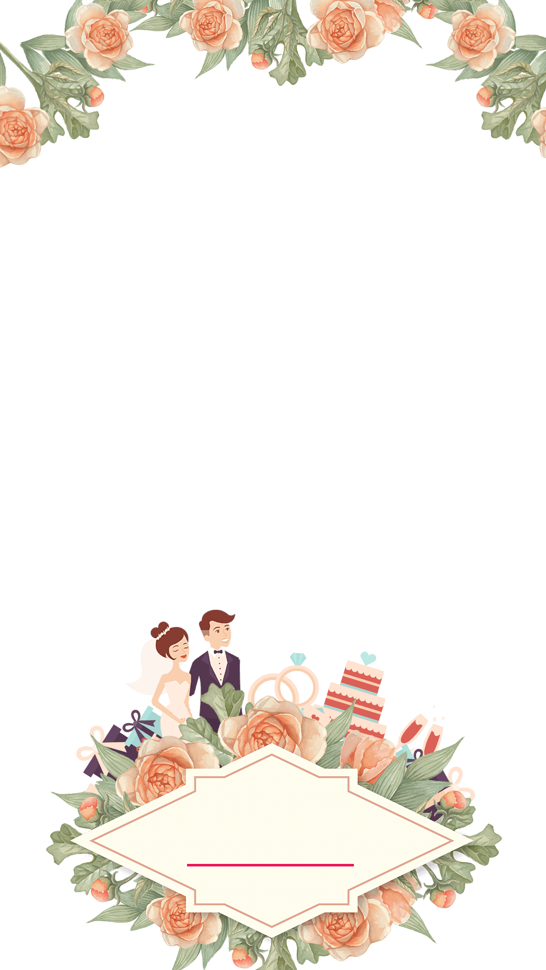 Pastel Floral Wedding Snapchat Filter Geofilter Maker On