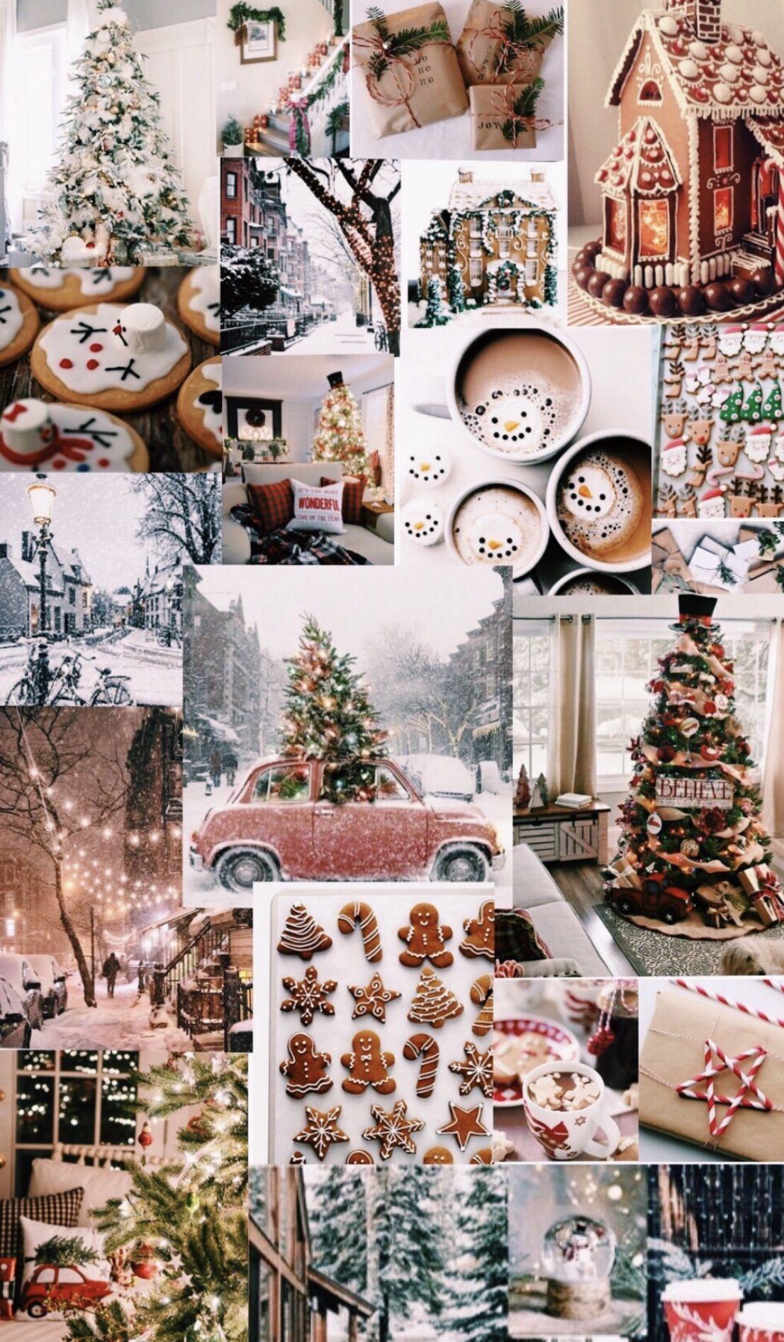 Christmas Collage Iphone Wallpaper Wallpaper Iphone Christmas Cute Christmas Wallpaper Christmas Phone Wallpaper