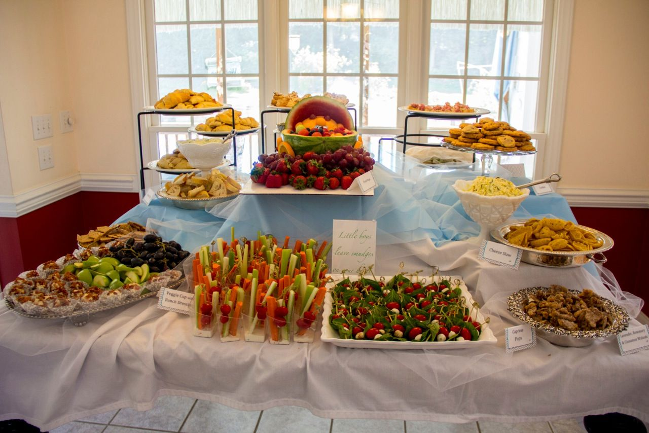 baby shower food table Party Ideas Baby shower buffet
