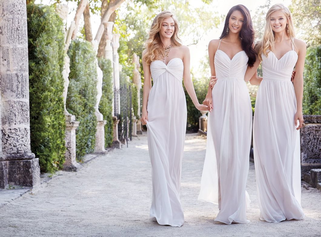Ivory chiffon over cashmere lining strapless a line bridesmaid ivory chiffon over cashmere lining strapless a line bridesmaid gown twisted gathered empire bodice ombrellifo Gallery