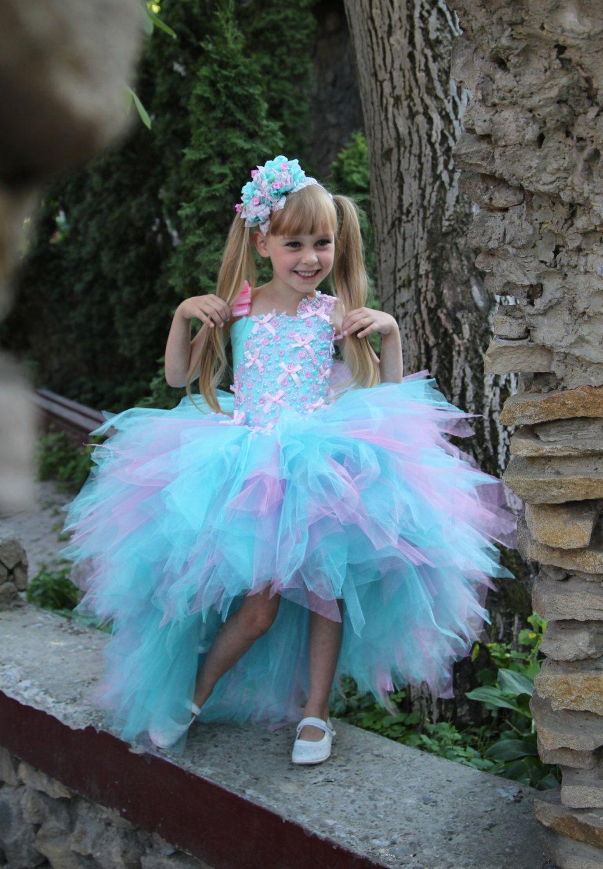 Pink blue flower girl dress birthday holiday by kingdomboutiqueua pink blue flower girl dress birthday holiday by kingdomboutiqueua izmirmasajfo