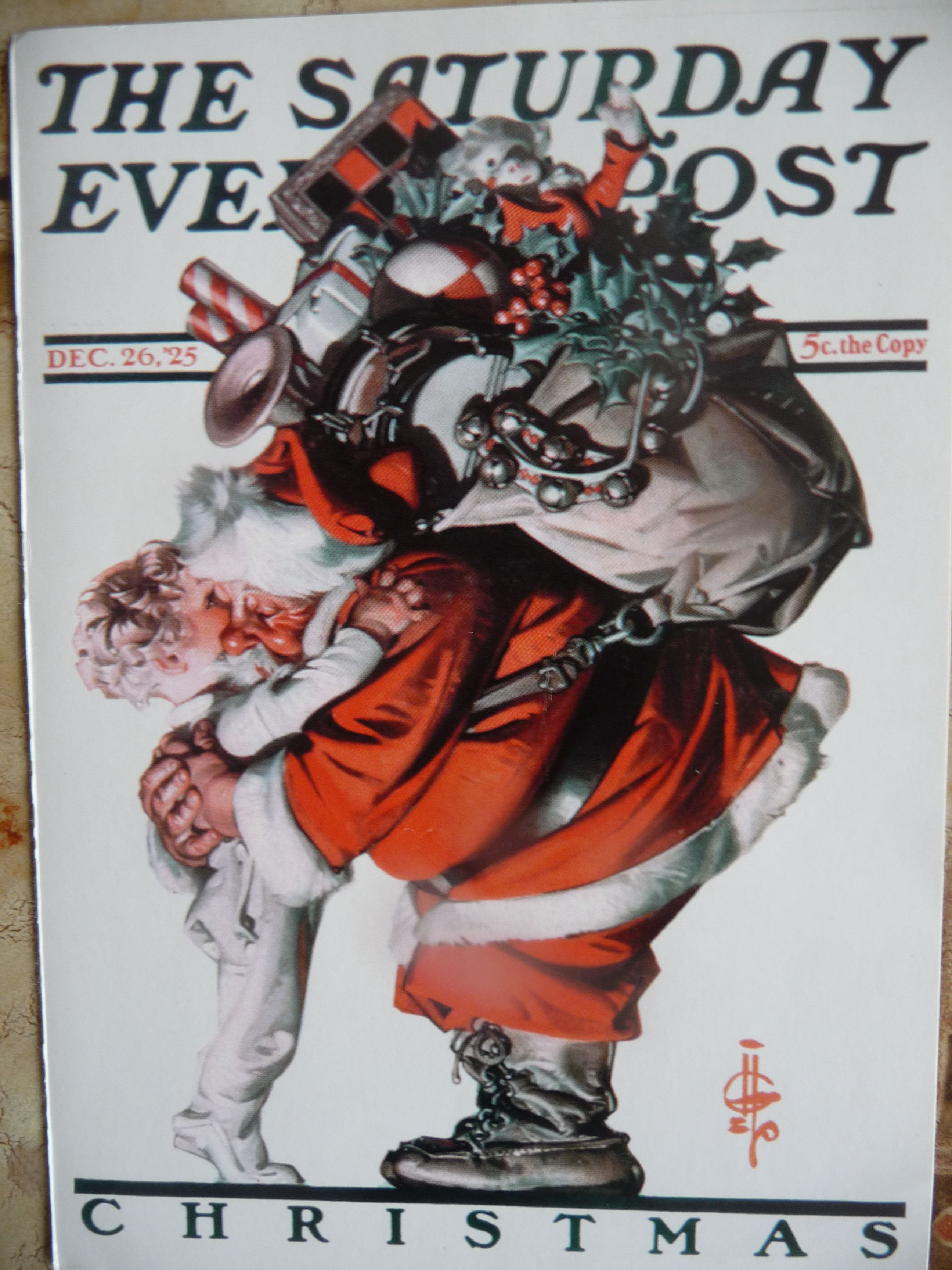 Antique Norman Rockwell Christmas Card Topsimages