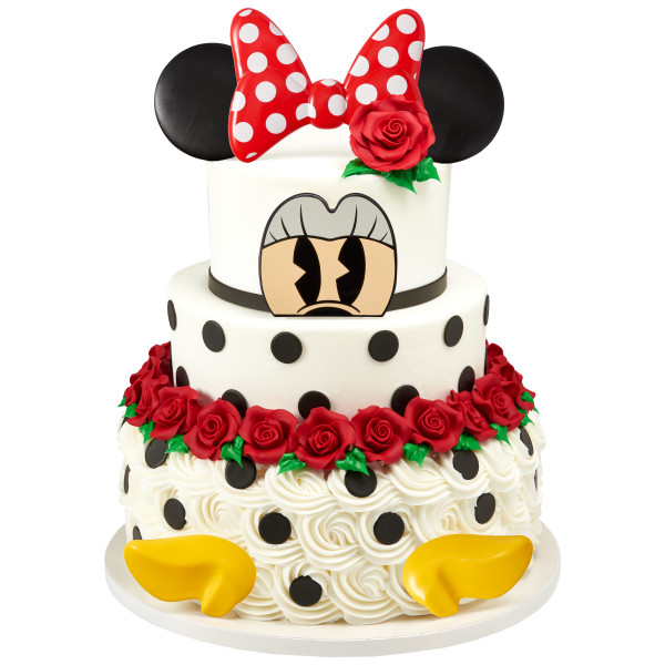 Minnie Mouse Creations Decoset Decopac In 2020 Minnie Mouse Cake Topper Minnie Mouse Cake Design Minnie Mouse Cake