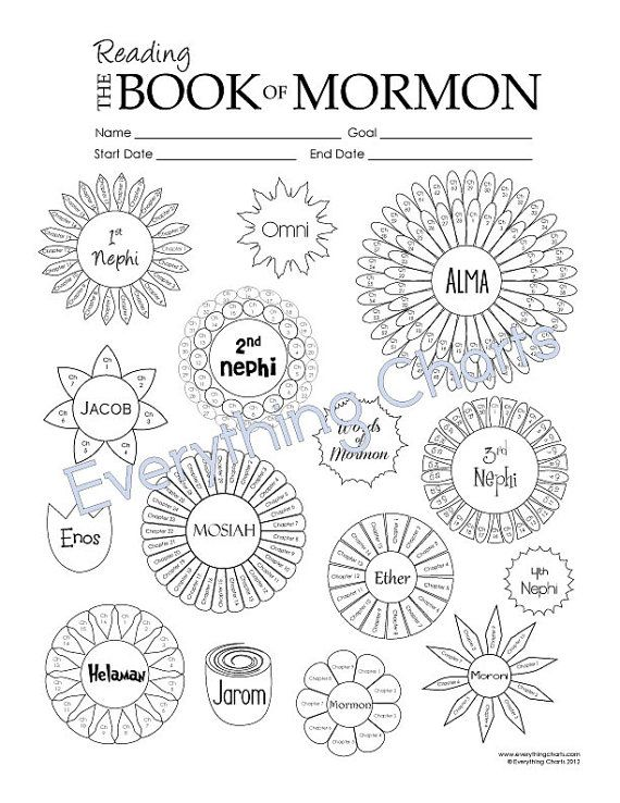 Book of mormon reading chart pdf file printable pinterest