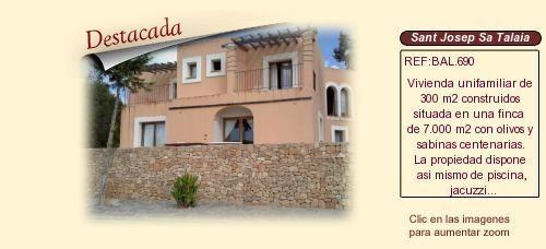 BAL690 Sant Josep de Sa Talaia. Ibiza.  Chalet en venta