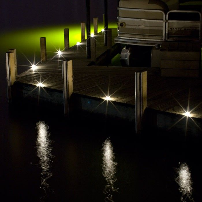 Outdoor Recessed Dek Dot Led Light Kit Dock Lighting Solar Pathway Lights Deck Lighting