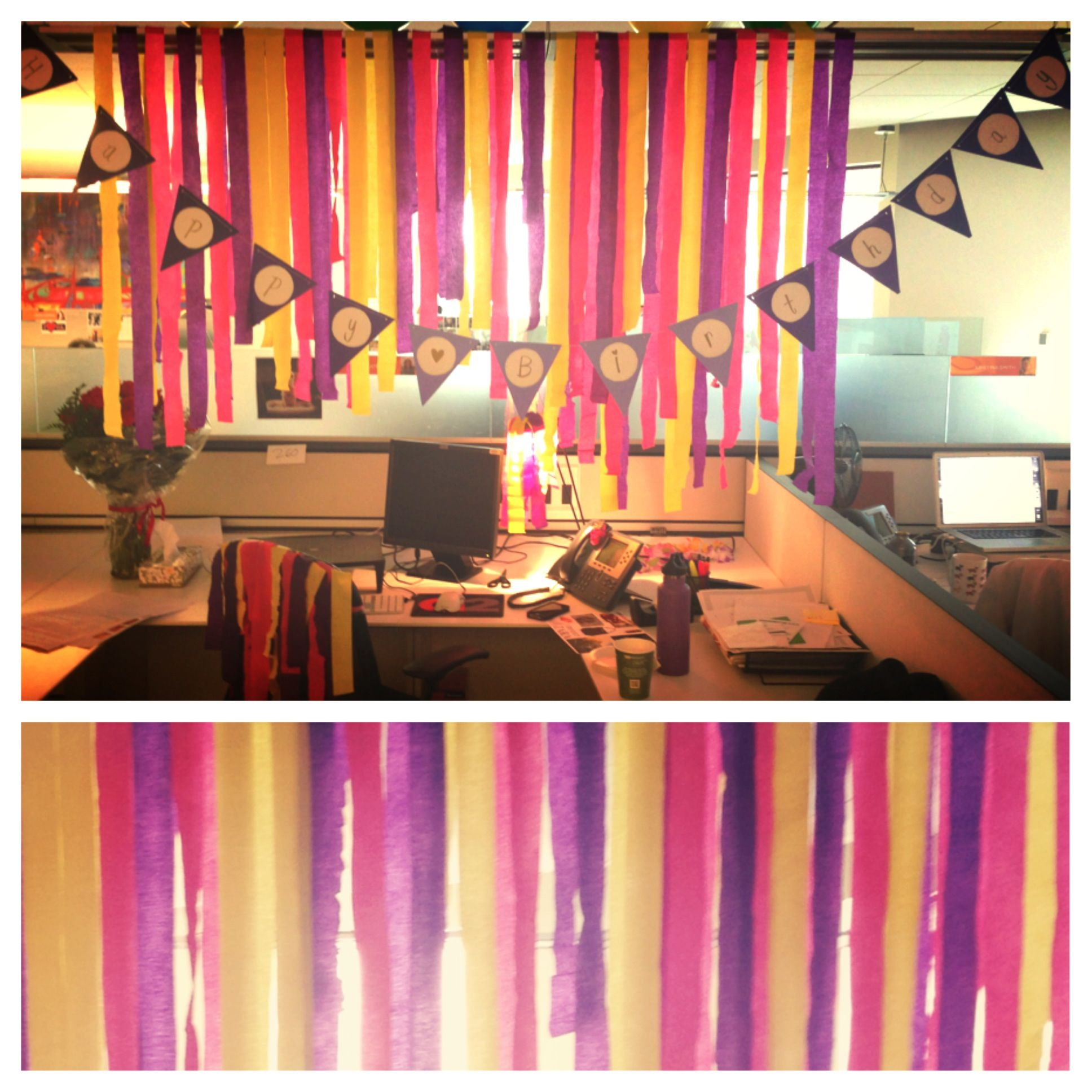 Cute Office Birthday Decor!