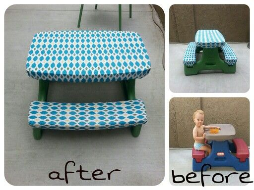 Little Tikes Table Makeover With Spray Paint & Vinyl
