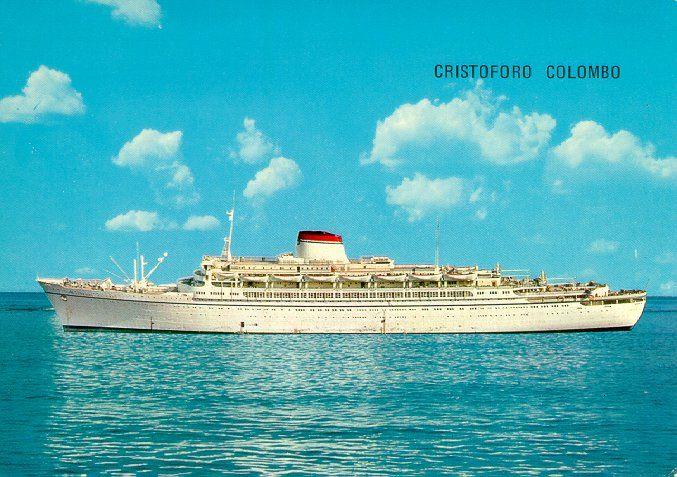 Cristifo Columbo Ocean Liners Pinterest Ocean - Columbo cruise ship