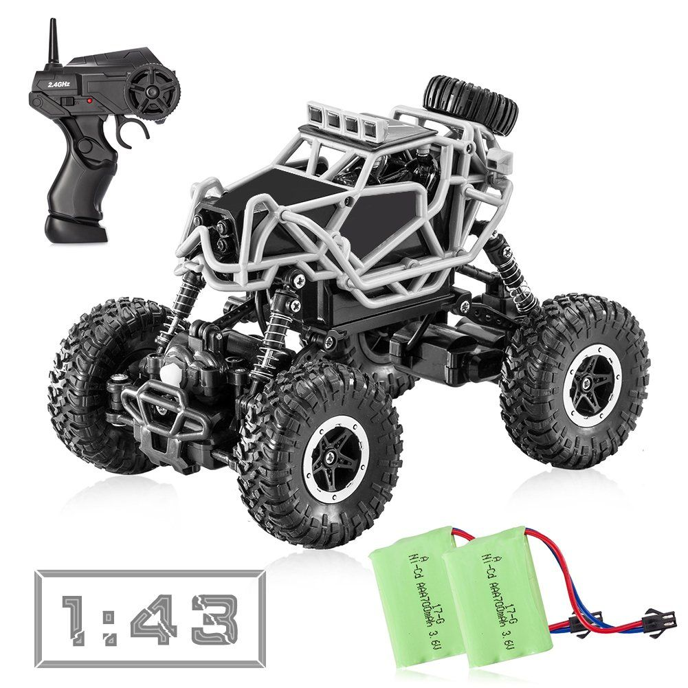 Tobeape Rc Car 4wd Offroad Remote Control 1 43 Scale High Snap Circuits Rover Speed Truck Best Birthday Christmas Gift For Kids And Adults 2 Rechargeable Batteries