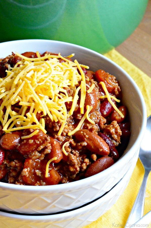 Learn how to make my Easy Homemade Chili Recipe with everyday ingredients found in your pantry! No need to buy a chili seasoning mix--you can make it!