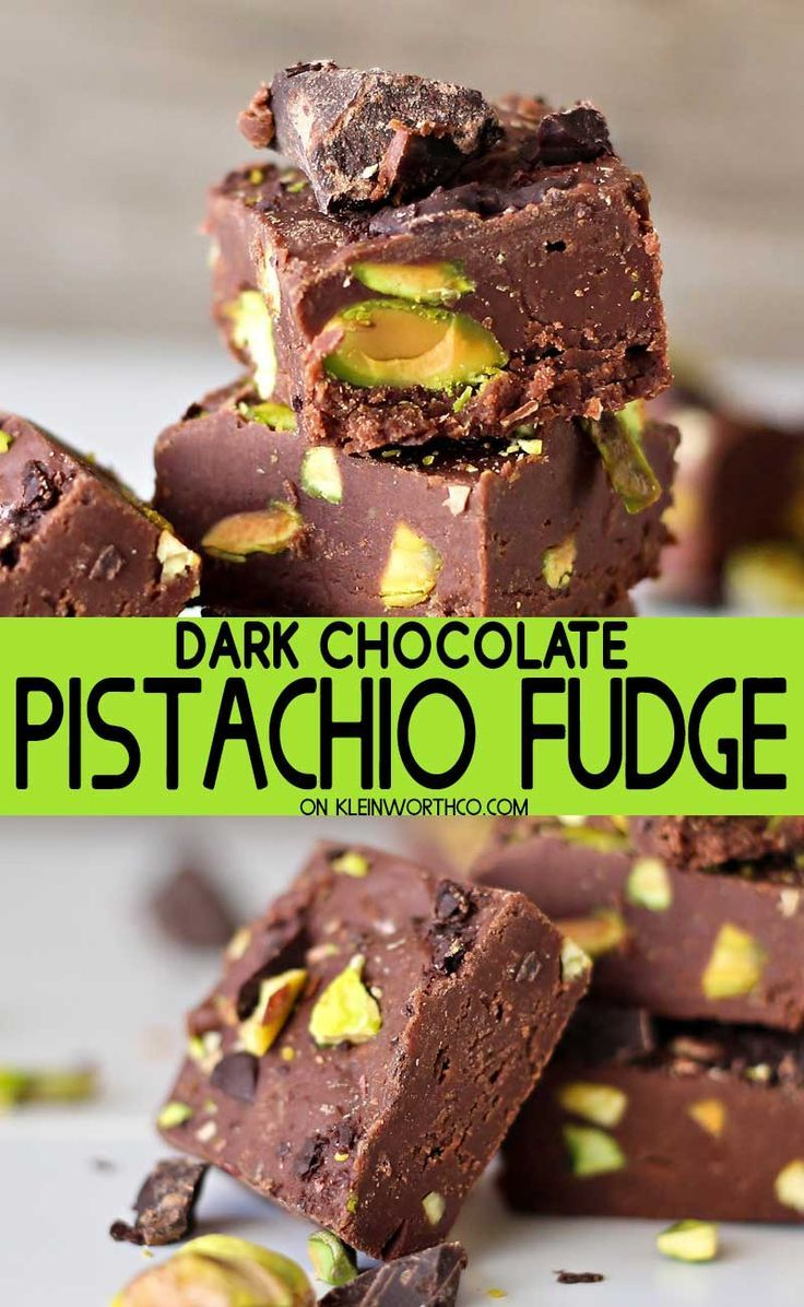 Dark Chocolate Pistachio Fudge is a delicious holiday fudge recipe that is the perfect blend of salty and sweet. Perfect for all those dark chocolate lovers!  darkchocolate  pistachio  fudge  holiday  christmas  treat  chocolate  creamyfudge