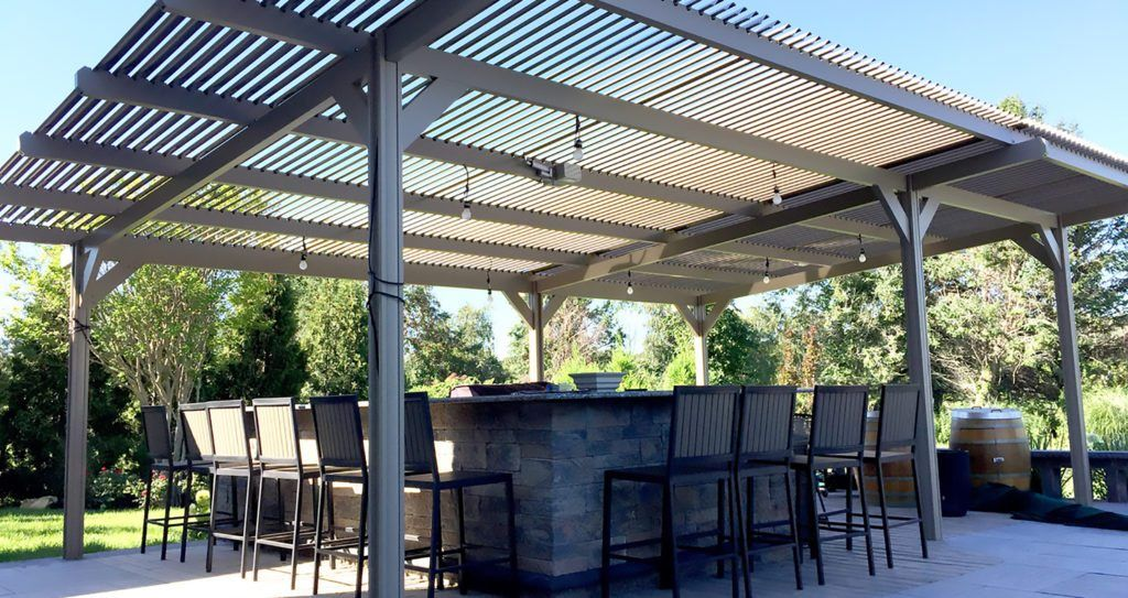Smart louvered pergola patio covers are adjustable rotating louvers smart louvered pergola patio covers are adjustable rotating louvers provide you protection from sun solutioingenieria Gallery