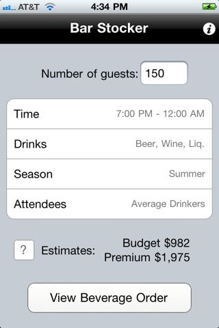 There\u0027s an app to calculate how much liquor you need to stock for - wedding budget estimates