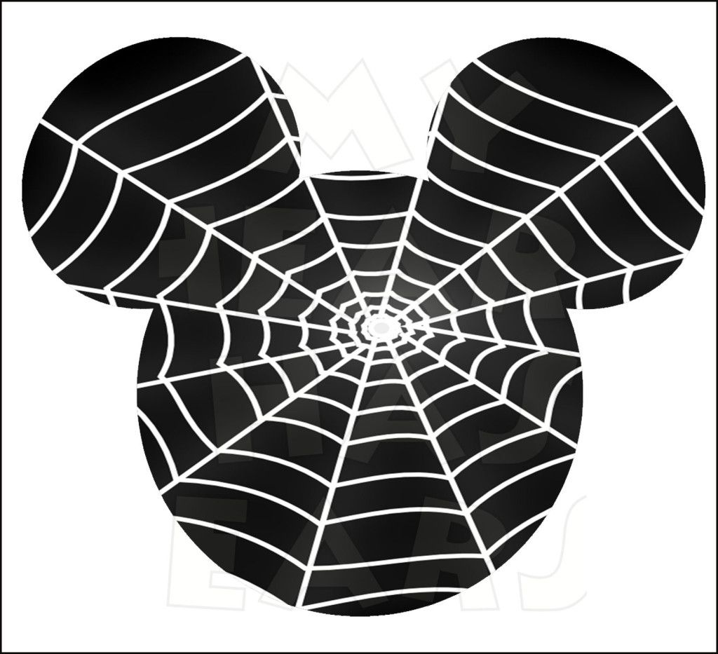 mickey mouse spider web instant download halloween digital clip