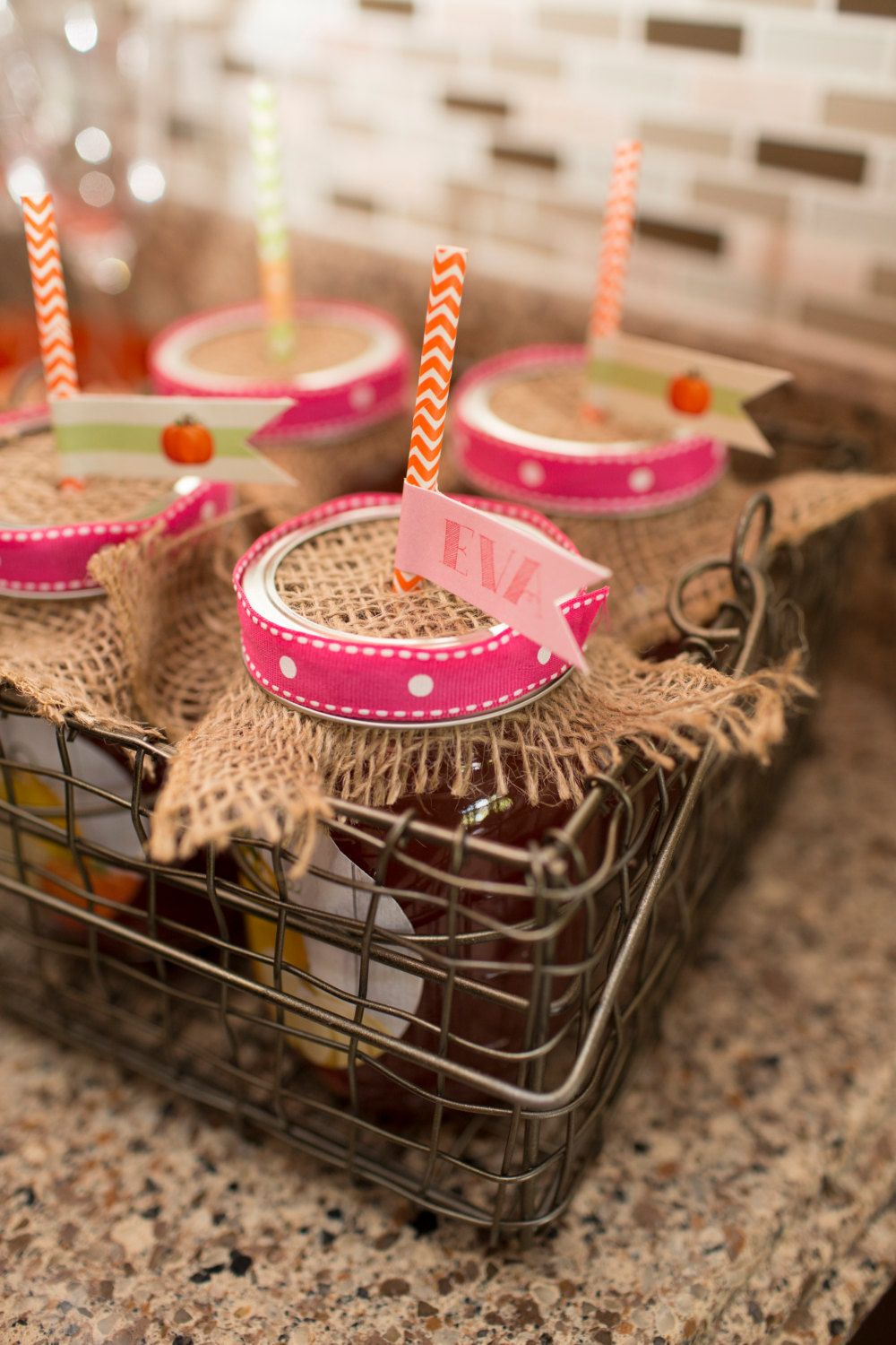 Little Pumpkin / Fall Harvest straws + straw flags by Charming Touch Parties.  Pack of 18, customizable. by CharmingTouchParties on Etsy