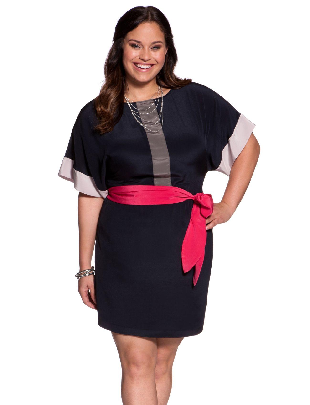 Contrast Colorblock Dress Womens Dresses Plus Size Dresses