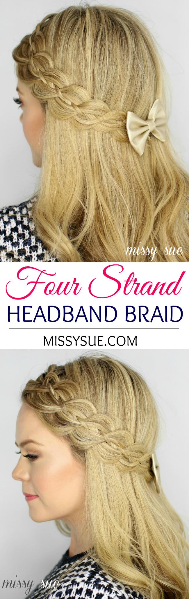 Four Strand Headband Braid Women S World Hair Braids