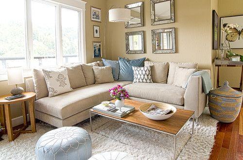 Beautiful Living Rooms wall art, comfortable seating, natural