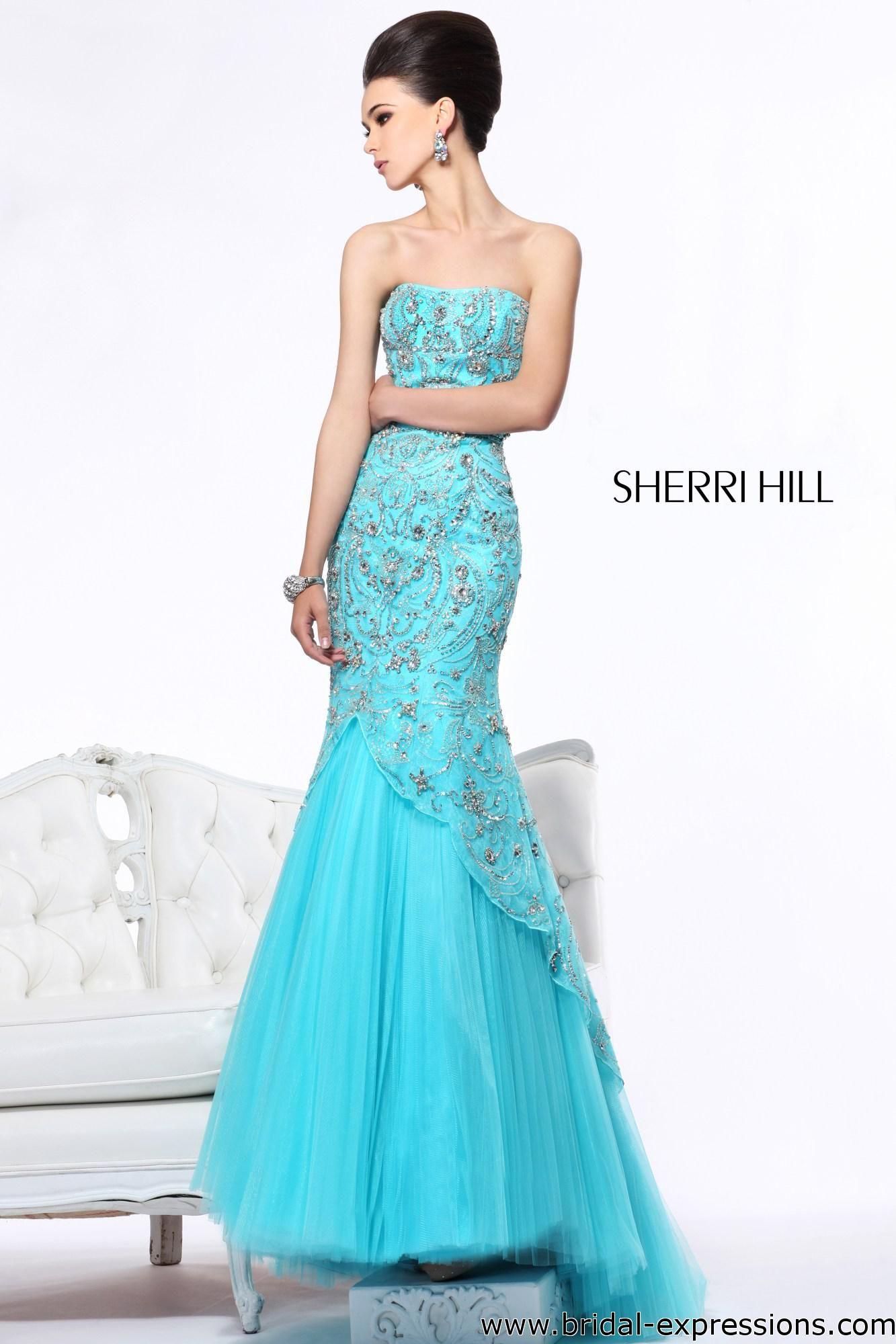 sherri hill mermaid dresses | sherri hill 21042 beaded mermaid prom ...