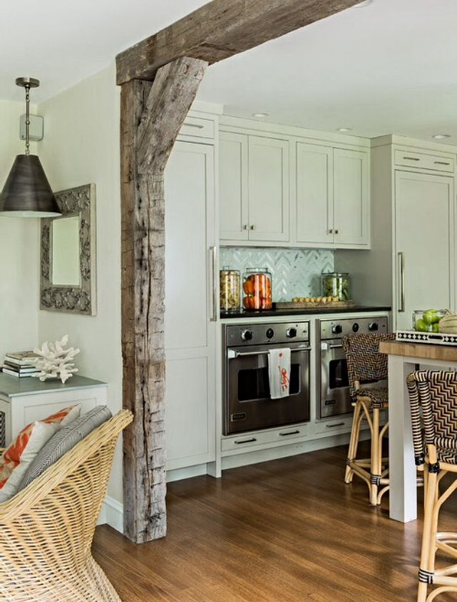 Kitchen Home Renovation Faux Wood Beams