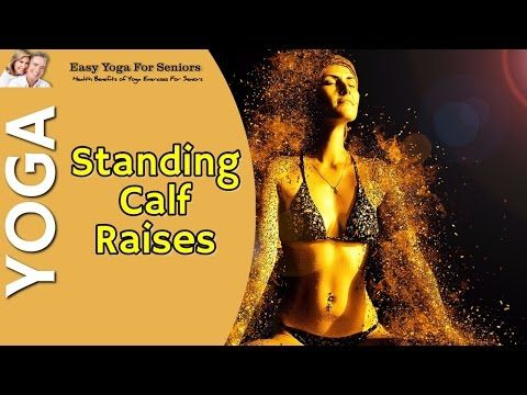 standing calf raises mobility exercise  easy yoga for
