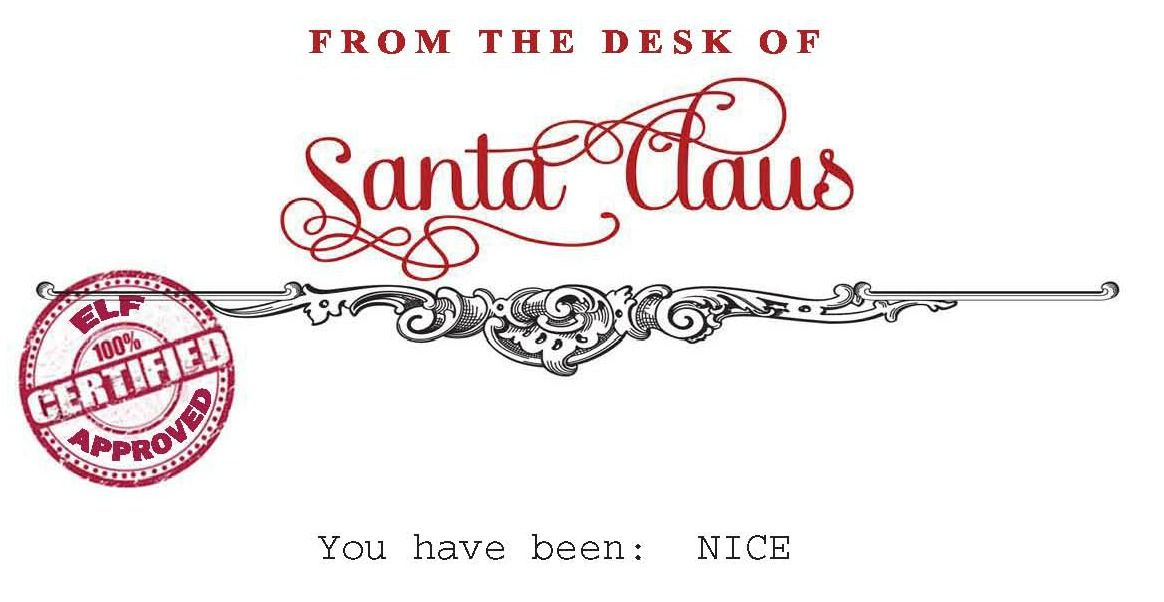 Letterhead For Letter to Santa Santa Claus Letter