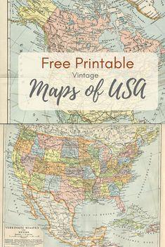 wonderful free printable vintage maps to download vintage maps and