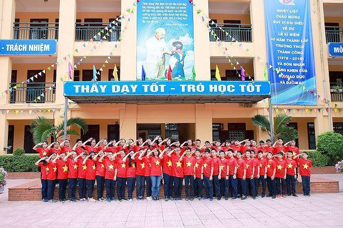 Áo cờ đỏ sao vàng trường THCS Thành Công - Hình 6