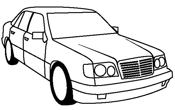 mercedes benz 500e coloring page