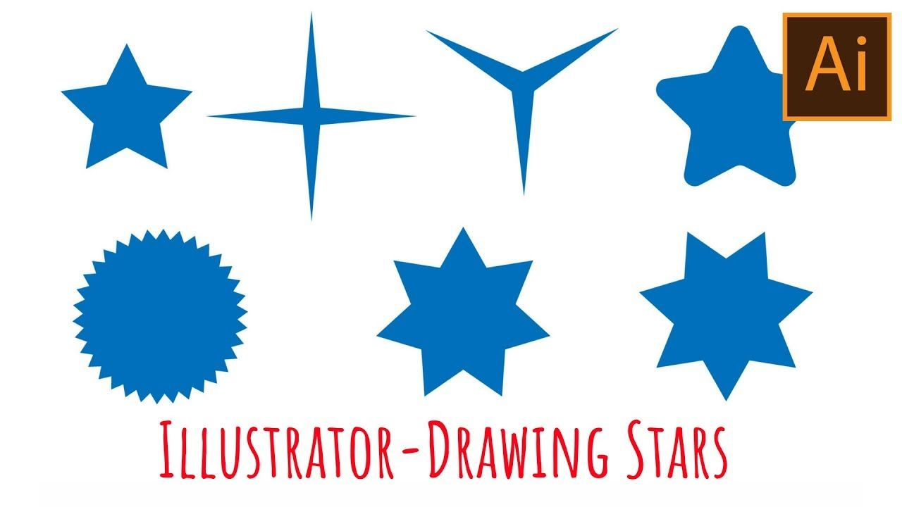 Illustrator How To Draw Stars Graphic Design Logo Drawing Stars Illustration