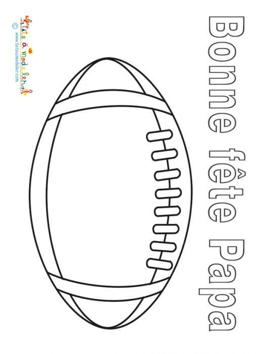 Coloriage Bonne Fete Papa Ballon De Rugby Dessin Ballon Rugby Dessin Ballon
