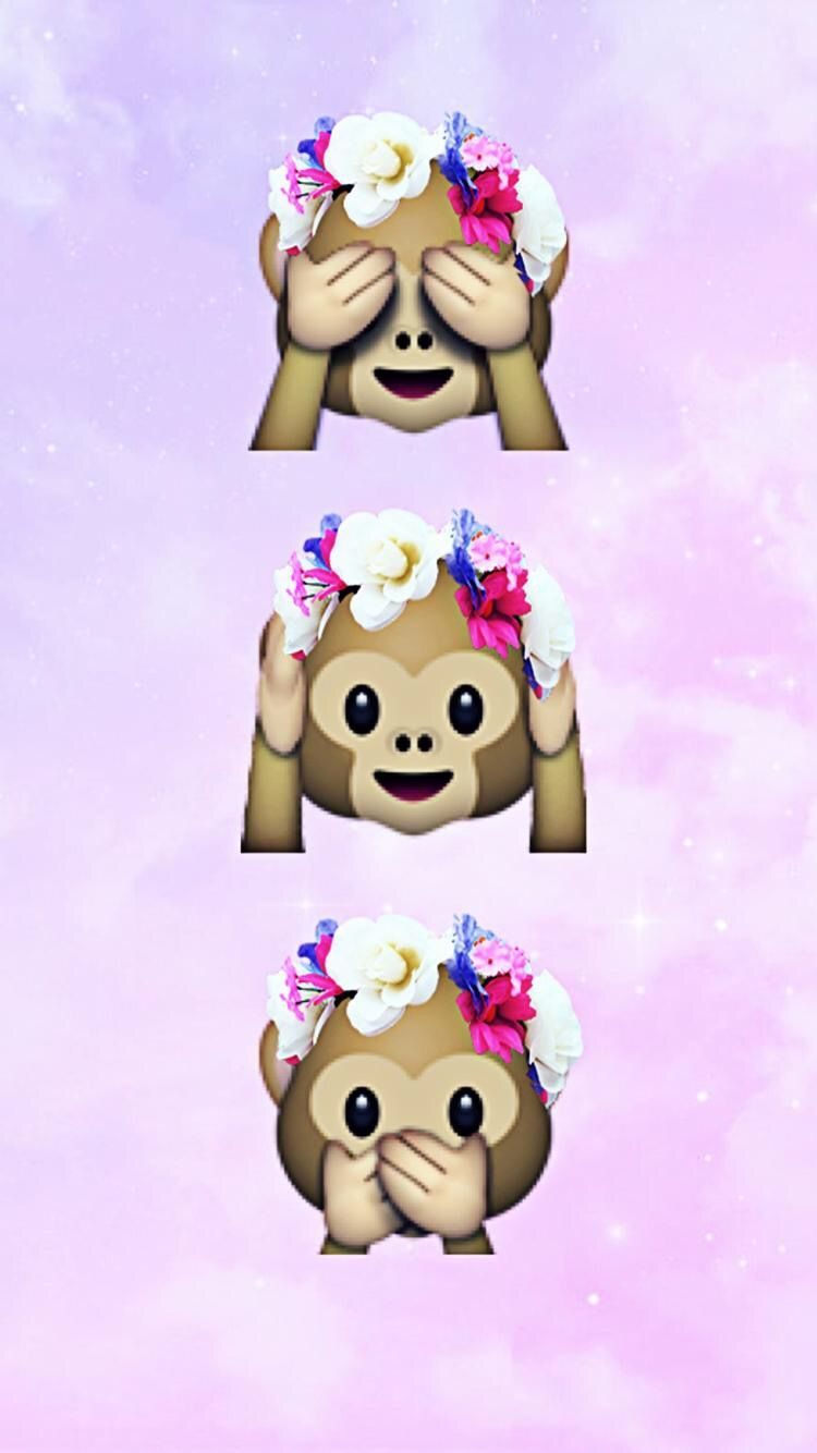 Monkey wallpaper emoji