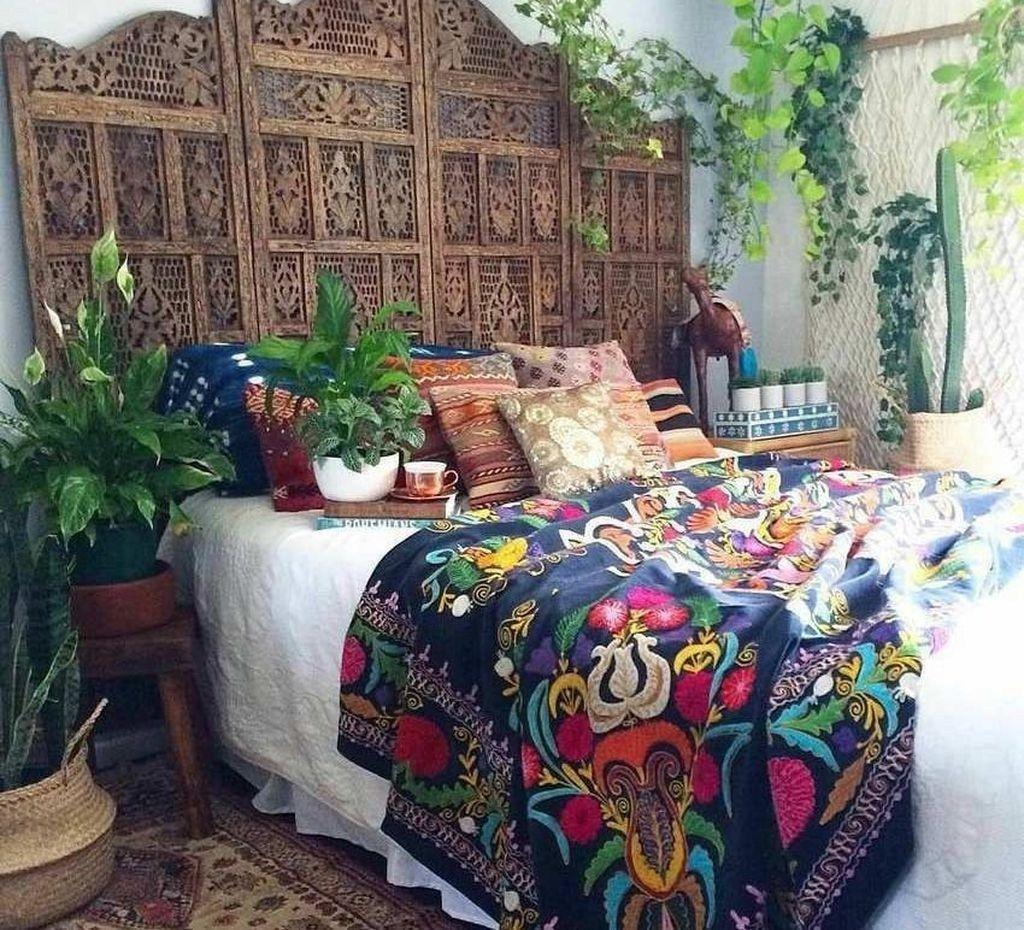 Photo of 45 tolle böhmische Schlafzimmer Dekor Ideen mit Pflanzen – Diy und Deko