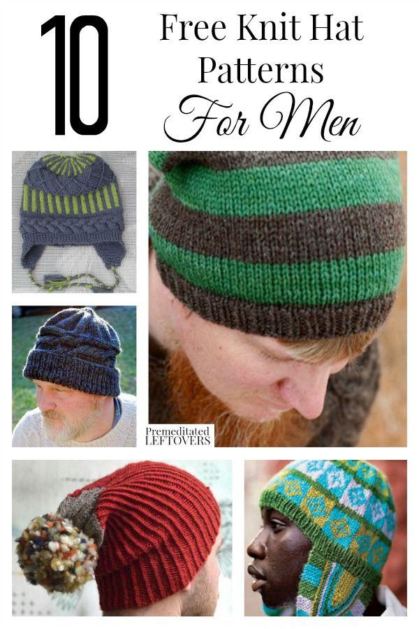 10 Free Knit Hat Patterns for Men | Crafty crafts | Pinterest ...