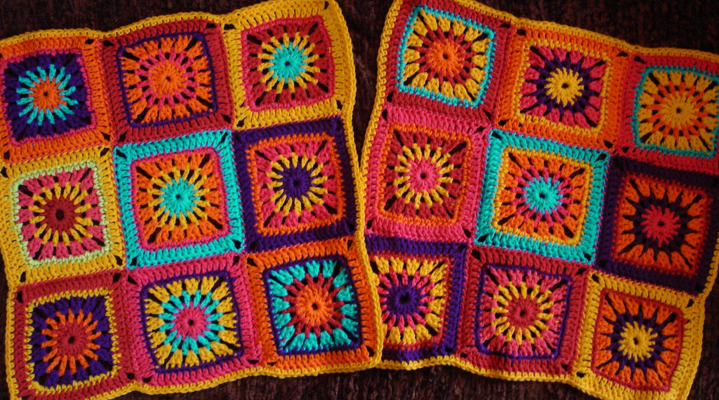 Mexican sunset Granny Squares pattern | Knitting & Crocheting ...