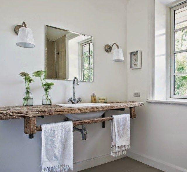 Une salle de bains au naturel | Déco sdb, Bois naturel et Sdb