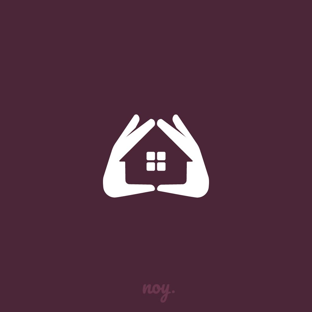 A Minimal Hand House Logo House Logo Design Home Logo Logo Design Creative