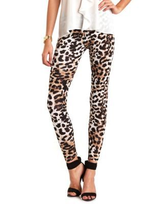 cheetah print cotton legging