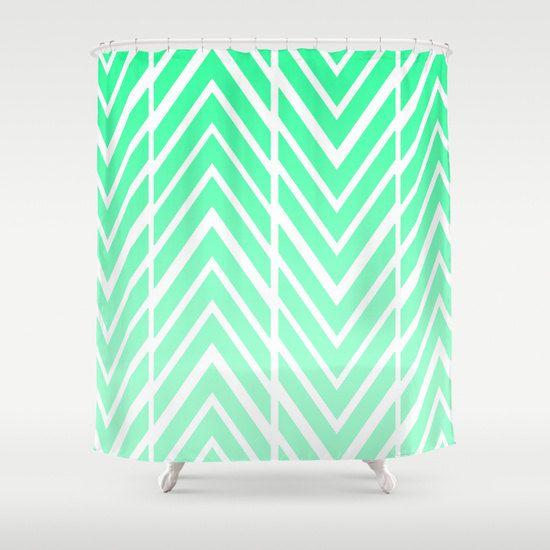 Shower Curtain Mint Green Arrow By ShelleysCrochetOle