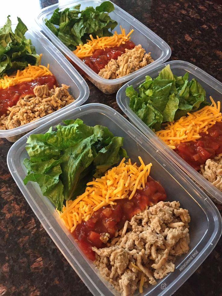 Keto taco salad meal prep bowls recipe in 2020 keto